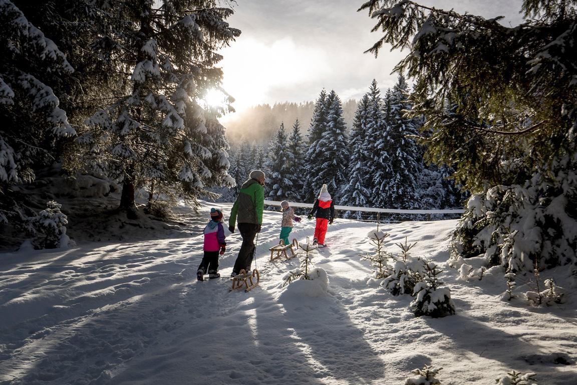 Schifahren - Snowboarden - Tourengehen - Rodeln - Schneemannbauen